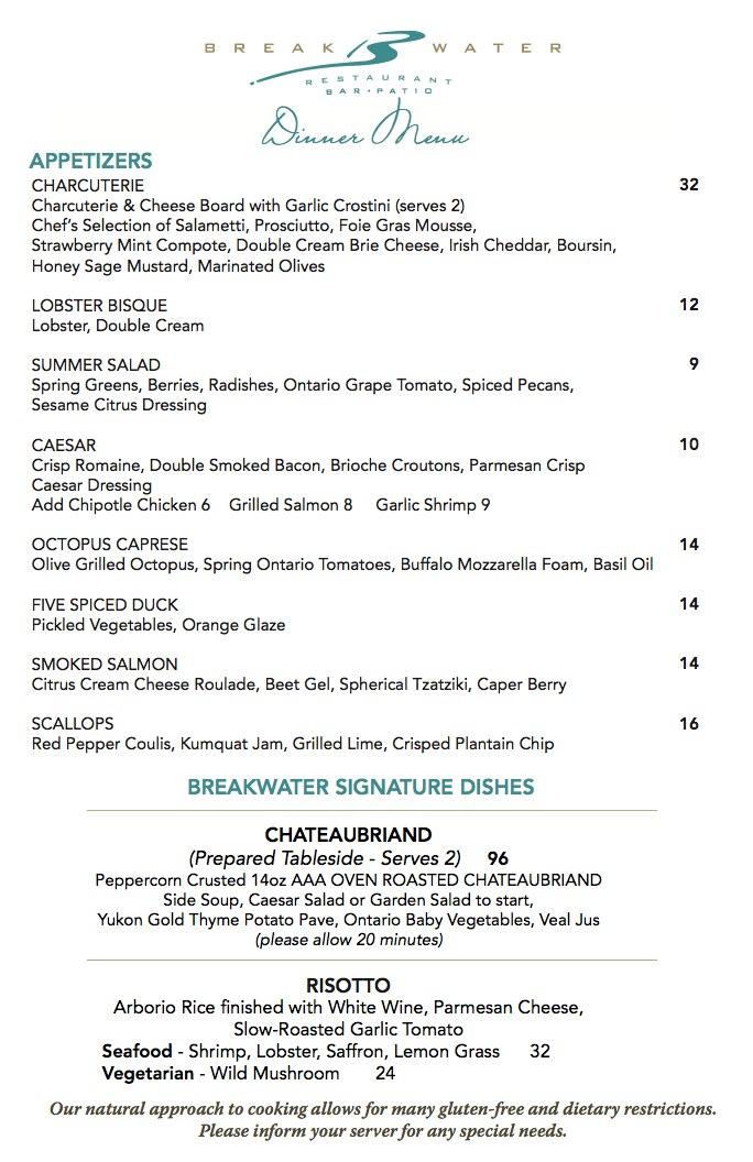 Dinner Menu - The Waterside Inn